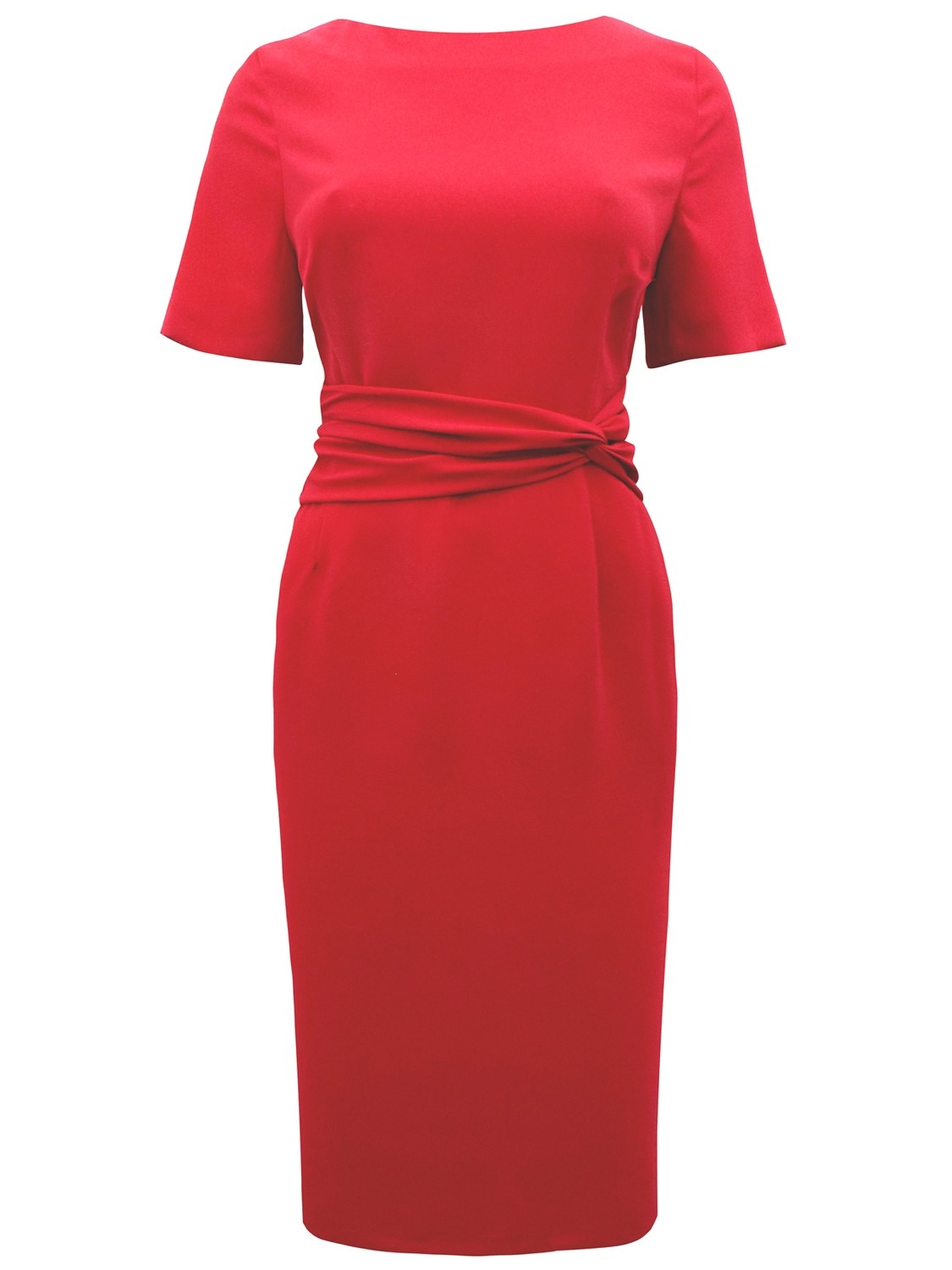 Twist Drape Panelled Shift Dress red