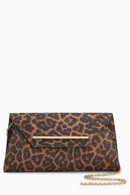 Animal Print Envelope Clutch