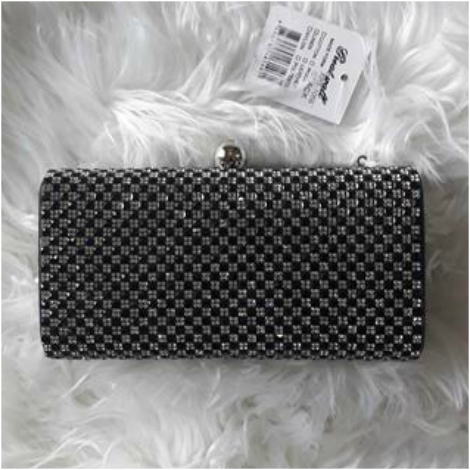 Glitter Clutch Bag Black