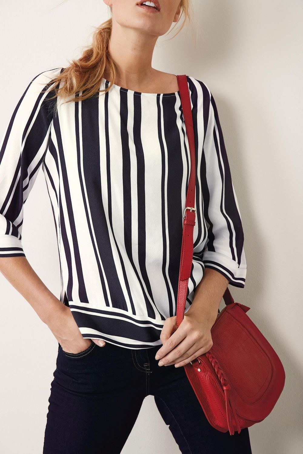 Next Stripe Boxy Tee