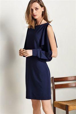 Next Navy Open Sleeve Dress