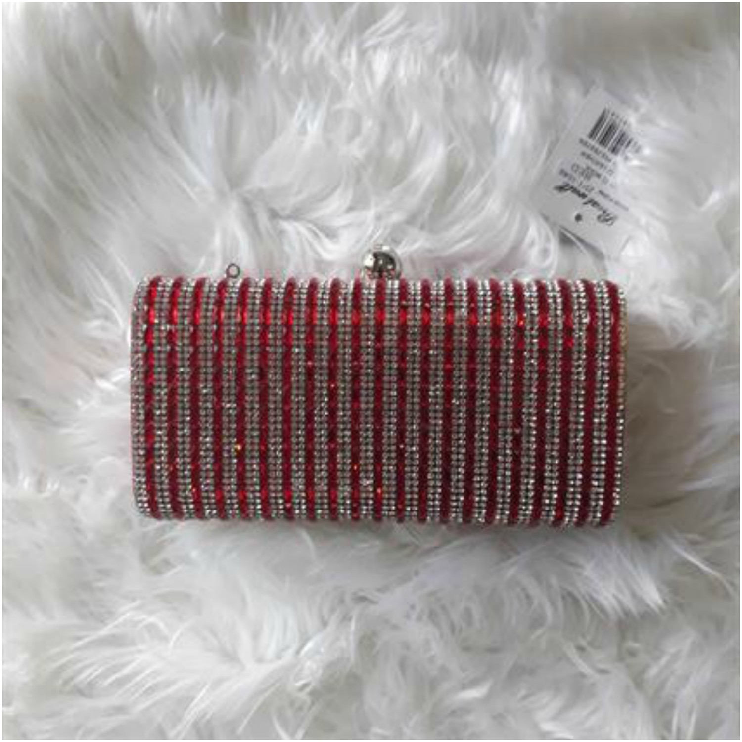 Glitter Clutch Bag Red