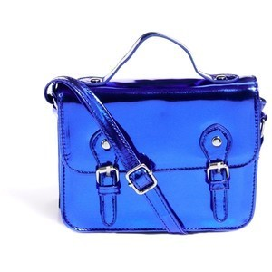 Mini Satchel Bag With Metal Buckles