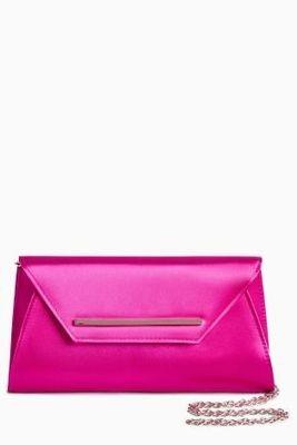 Next Pink Envelope Clutch Bag