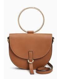 Tan Ring Handle Bag