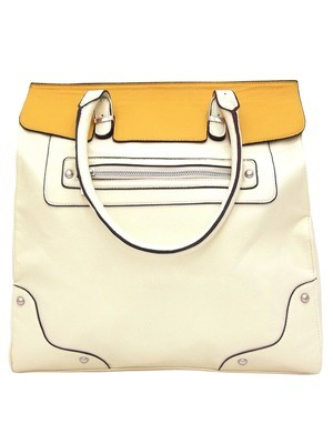 Armelia Tote In Cream And Yellow