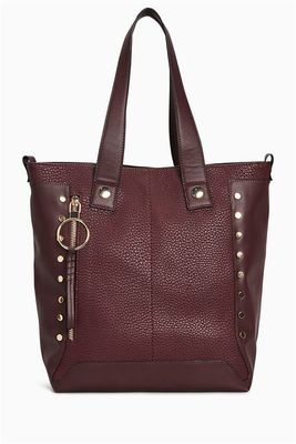 Next Berry Studded Shopper Bag