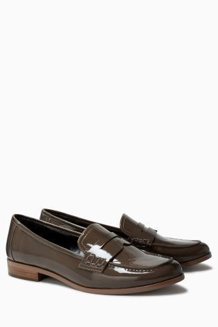 Brown Patent Next Loafers