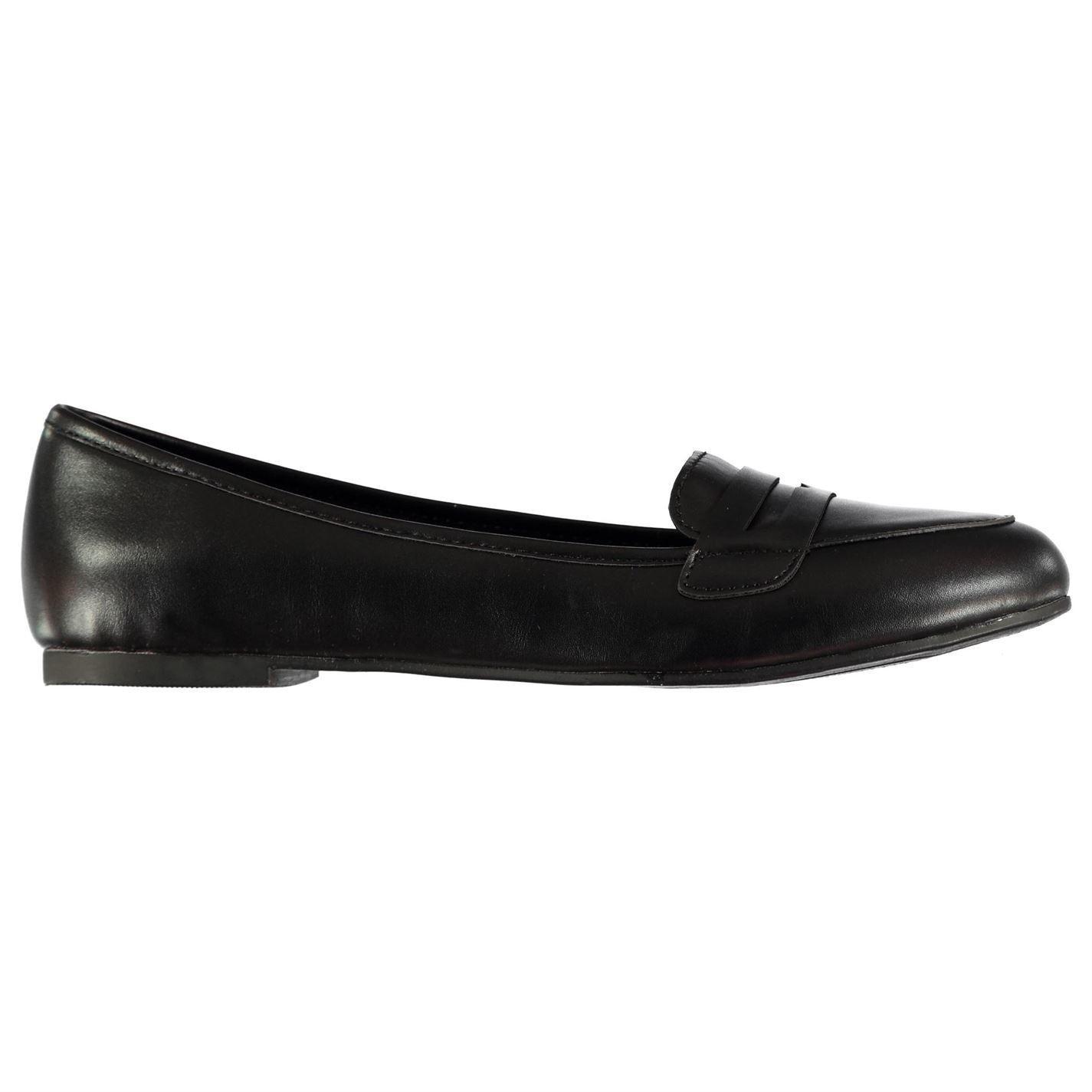 Miso Tina Ladies Flat Shoes Black