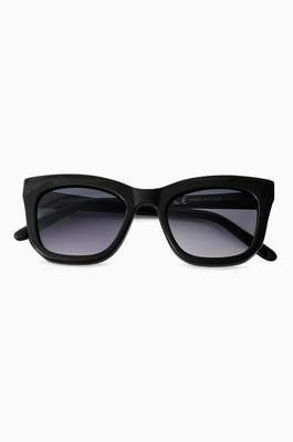 Black D Frame Square Sunglasses