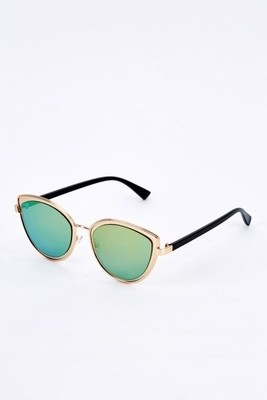 Cat Eye Mirrored Sunglasses green