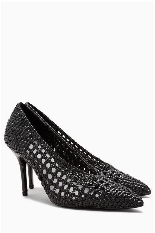 Black Weave Court Next Shoes