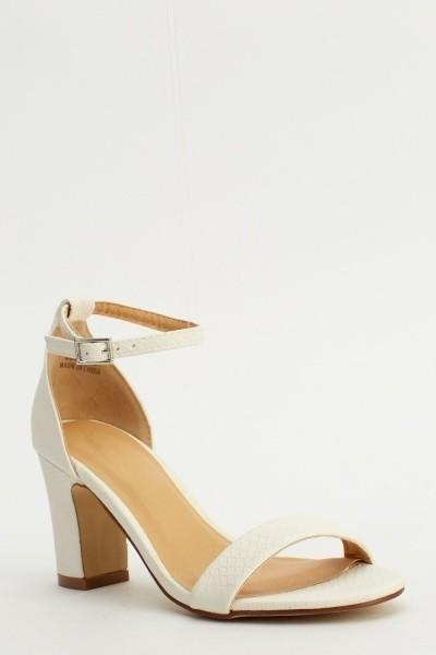 Croc Sandal Heels White