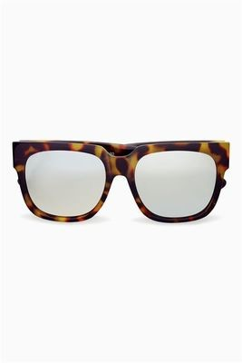 Next tortoiseshell effect mirrored lens square sunglasses