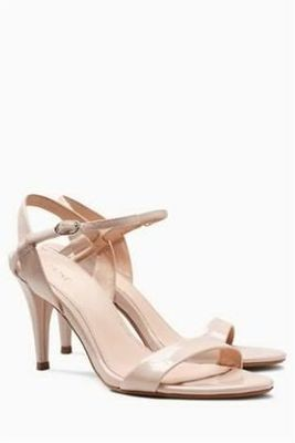 Next Skinny Strap Nude Sandals