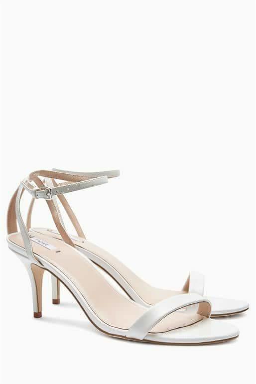 Next Skinny Strap White Sandals