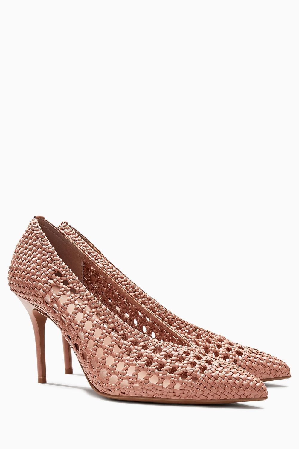 Nude Weave Court Shoes
