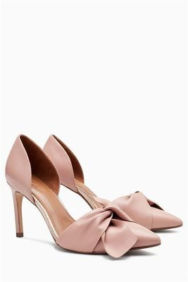 Pink Leather Bow Two Part Courts