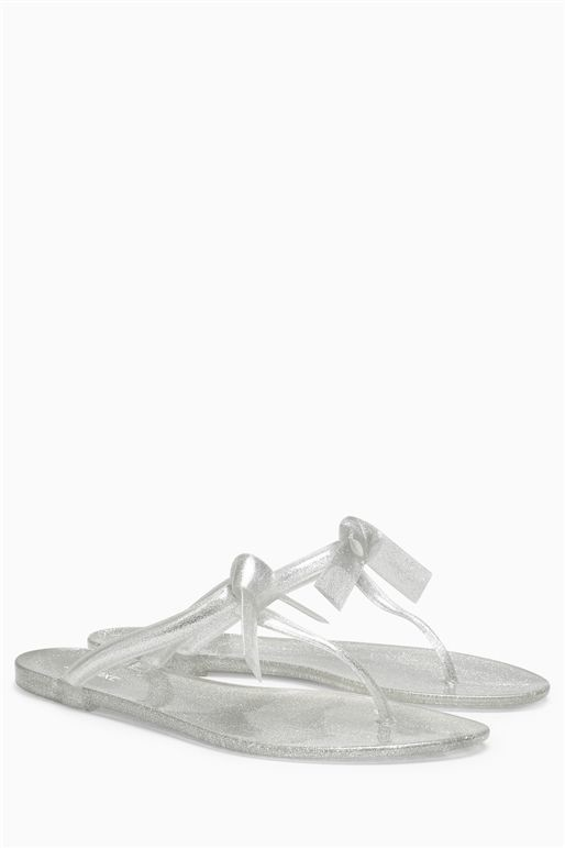 Next silver jelly sandals