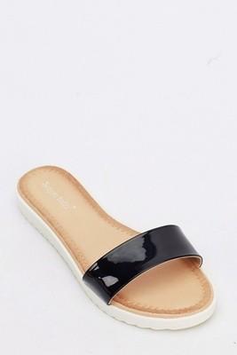 PU Sandals Black