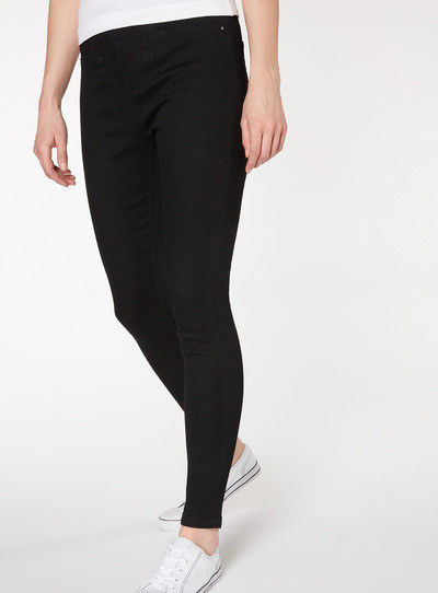Comfort stretch jeggings black