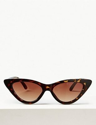 Cat eye sunglasses brown