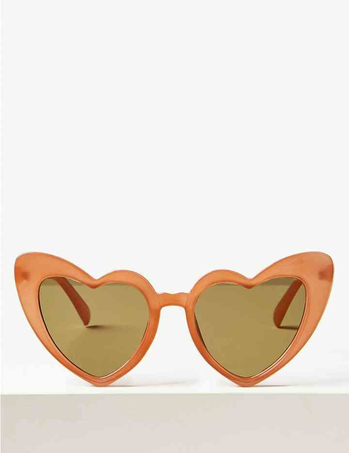 Heart Sunglasses Peach