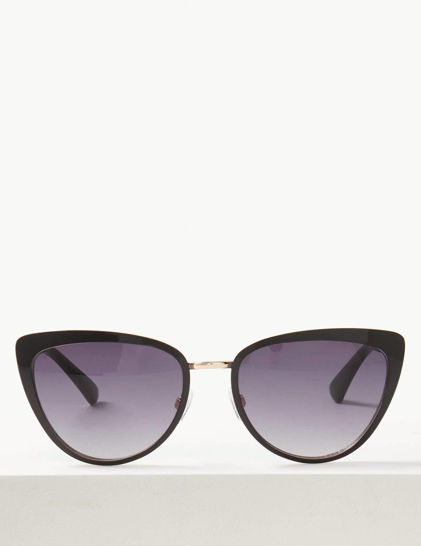 Cateye Framed Sunglasses Black