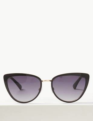 Cateye Framed Sunglasses Black
