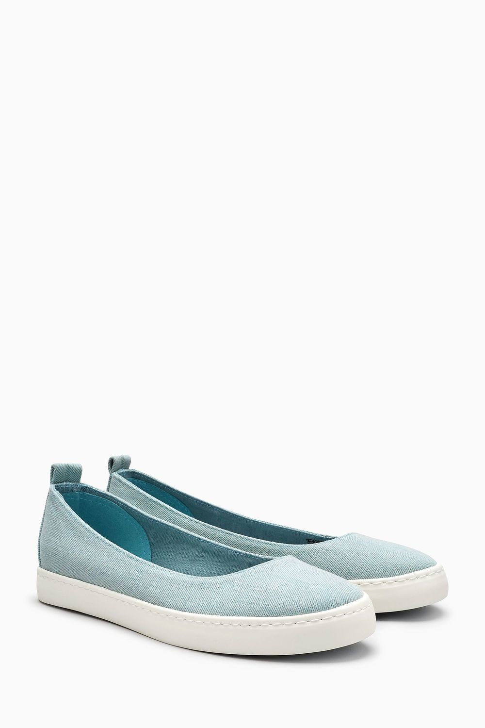Next Canvas Slip-on Ballerinas Blue