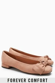 Next Patent Forever Comfort Bow Ballerinas