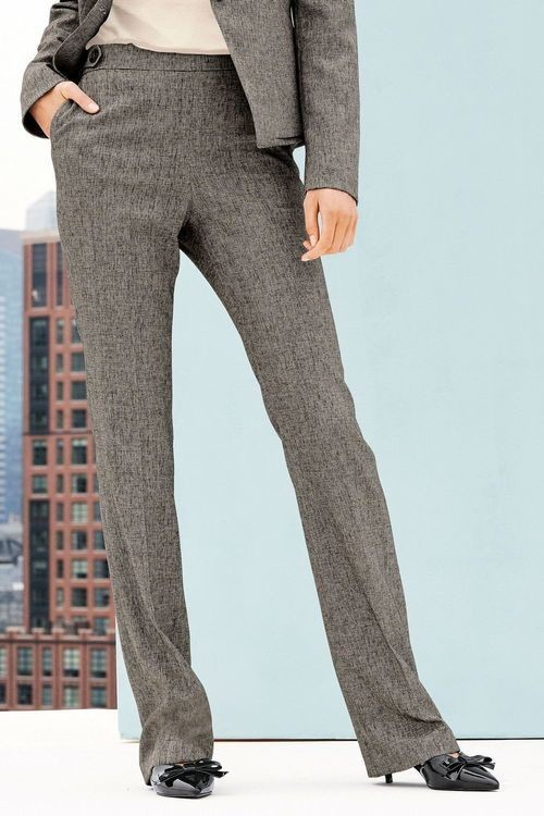 Next Textured Boot Cut Trousers