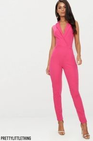 Wrap Front Belted Jumpsuit