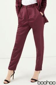Satin suit trousers