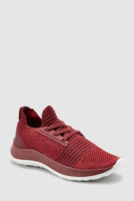 Knitted Elastic Lace Trainers