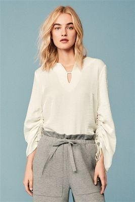 Next ruched sleeve top