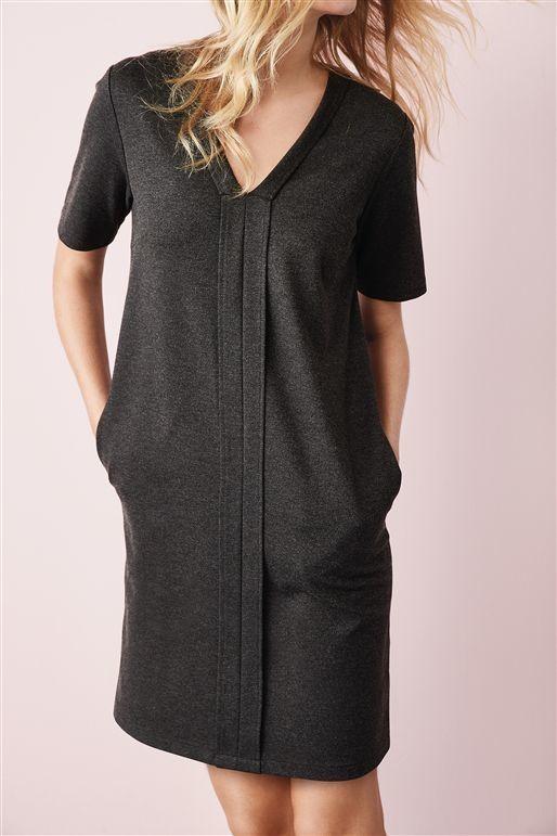 Charcoal Ponte Dress