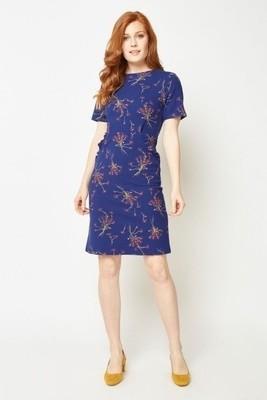 Ruffle Trim Floral Midi Dress