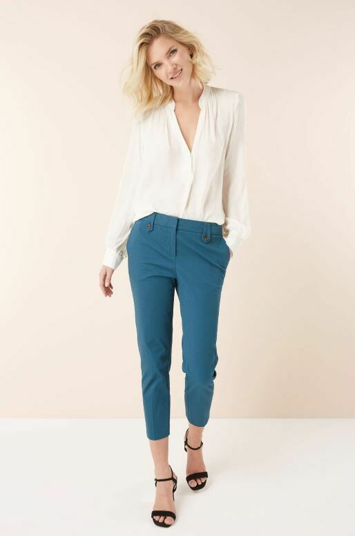 Brushed Capri Trousers Teal
