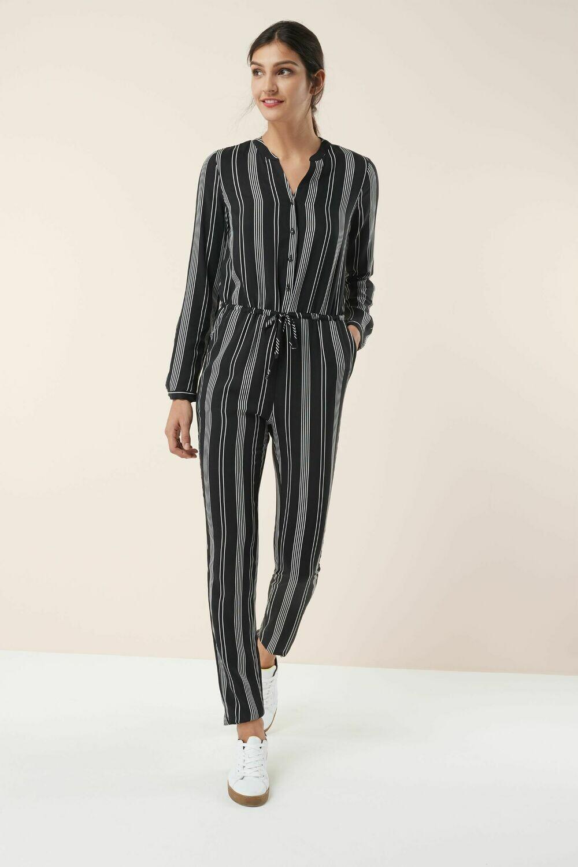 Next Mono Stripe Jumpsuit