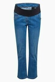 Mid Denim Maternity Cropped Jeans Next