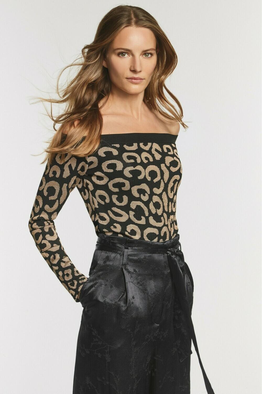 Leopard Bardot Sweater