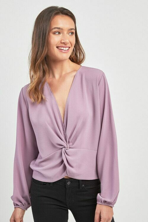 Next Knot Front Long Sleeve Top