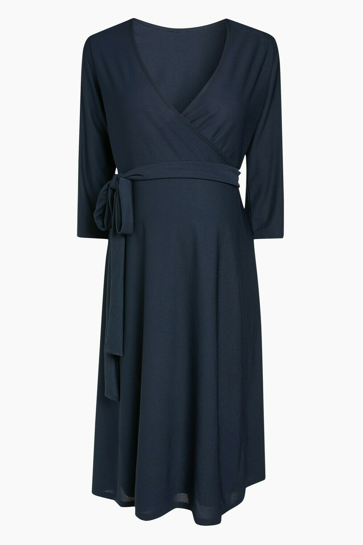 Navy Maternity Wrap Dress