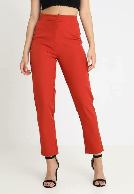 Cigarette tailored trousers orange