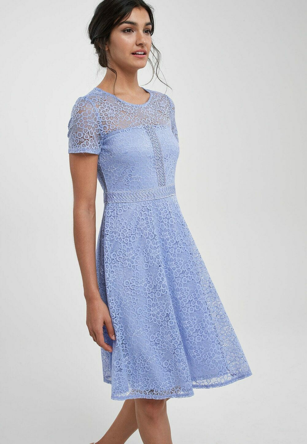 Trim Detail Lace Dress