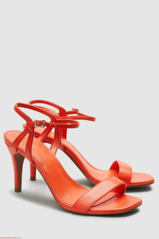 Orange delicate sandals
