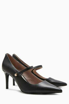Black Heritage Leather Mary Janes