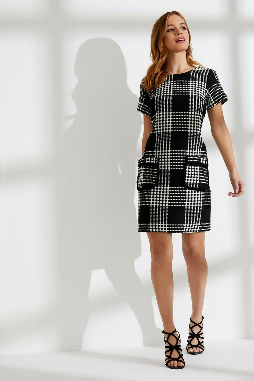 Petite Check Shift Dress