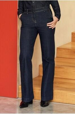 Raw Denim Tailored Wide Leg Jeans